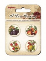 Set of decorative metal elements Love Cooking No. 1