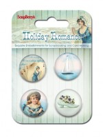 Set of decorative metal elements Holiday Romance No. 2