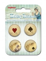 Set of decorative metal elements Holiday Romance No. 3