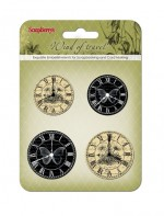 Set of clock «Wind of Travel», black and beige