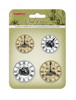 Set of clock «Wind of Travel», white and beige