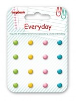 Enamel brads EveryDay, 16 pcs