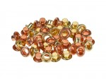 Set of eyelets 4.8 mm, 50 pcs , cooper+gold