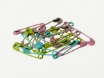 Safety pins 20 pcs, pastel colors