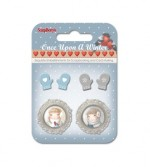 Set of metal embellishments with epoxy Once Upon a Winter 5