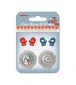 Set of metal embellishments with epoxy Once Upon a Winter 6