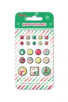 Brads set Happy Holidays, 21pcs