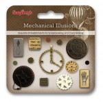 Set of decorative brads Mechanical Illusions