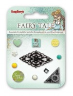 Set of decorative brads Fairy Tale