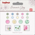 Set of brads 17 pcs Summer Joy 1