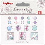 Set of brads 17 pcs Summer Joy 2