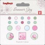 Set of brads 17 pcs Summer Joy 3