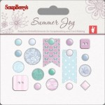 Set of decorative brads Summer Joy 1
