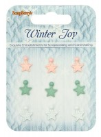 Set of stars Winter Joy, 9 pcs