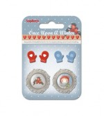 Set of metal embellishments with epoxy Once Upon a Winter 4