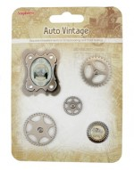 Set of decorative elements Auto Vintage 1