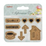Set of cork stickers Afternoon Tea 2
