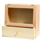 Display Case With Storage Drawer (28*27cm*11cm)