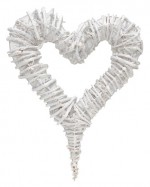 Rattan heart wreath, 28*40cm,