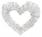 Rattan heart wreath 32*29cm,