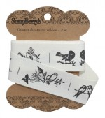 Ribbon Birds 25mm, 2m, cotton