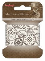 Decorative Ribbon Mechanical Illusions , 20mm, 2m, cotton