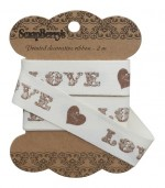 Ribbon Love, 20mm, 2m, cotton