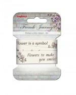 Printed ribbon, French Journey, 25mm, 2m, cotton
