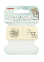 Printed cotton ribbon Fairy tale, 25mm, 2m