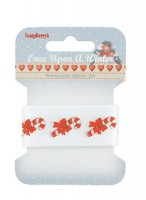 Printed decorative ribbon Once upon a Winter, satin, 25mm, 2 m