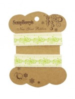 Printed decorative ribbon Winter lace, cotton, 15mm, 2 m