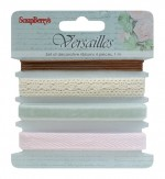 Set of decorative ribbons, Versailles, 4 pieces, 1m each