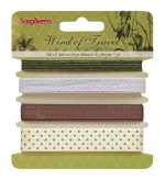 Set of decorative ribbons, Wind of travel, 4 pieces, 1m each