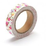 Cotton tape with floral print №21 15mm*4m SCB490045