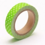 Cotton tape color fresh green peas in №49 15mm*4m SCB490049