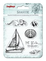 Set of stamps 10,5*10,5cm Seaside. Sailingship SCB4901007b
