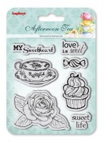 Set of Clear Stamps (10,5*10,5cm) Afternoon Tea - Dessert