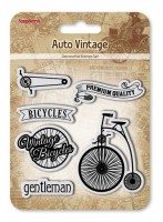 Set of Clear Stamps (10,5*10,5cm) Auto Vintage - Bicycles
