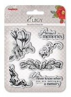 Set of Clear Stamps (10,5*10,5cm) Elegy - Precious memories