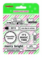 Set of stamps 10,5*10,5cm Happy Holidays. I love Winter