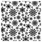Background stamp 10,5*10,5cm Snowflakes