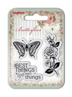 Set of clear stamps (7*7cm) Butterflies – The Best Things