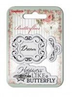 Set of clear stamps (7*7cm) Butterflies – Dream