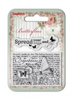 Set of clear stamps (7*7cm) Butterflies – Wings