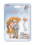 Set of clear stamps (10,5*10,5cm) Sweetheart – Beautiful