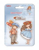 Set of clear stamps 10,5*10,5 cm Sweetheart – Happy Childhood
