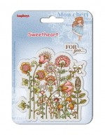 Set of clear stamps (10,5*10,5cm) Sweetheart – Flowers