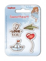 Set of clear stamps (7*7cm) Sweetheart – Boats & Balloons