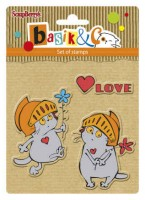 Basik's New Adventure Set of stamps (10.5*10.5cm) - Basik's Big Date