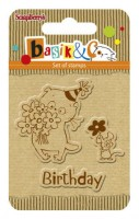Basik's New Adventure Set of stamps (7*7cm) - Basik's Birthday